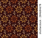 seamless vintage pattern with... | Shutterstock .eps vector #284684678