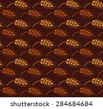 seamless vintage pattern with... | Shutterstock .eps vector #284684684