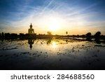 great buddha of thailand ... | Shutterstock . vector #284688560