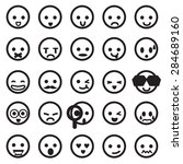 human emotion icons  mono... | Shutterstock .eps vector #284689160
