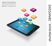 touchscreen smartphone with... | Shutterstock .eps vector #284692343