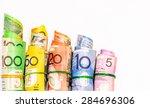 colorful of australian dollars... | Shutterstock . vector #284696306