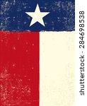 texas grunge poster. a texan... | Shutterstock .eps vector #284698538
