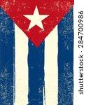 flag of cuba. a cuban grunge... | Shutterstock .eps vector #284700986