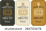 set labels for beer in a retro... | Shutterstock .eps vector #284702678