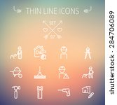 construction thin line icon set ...   Shutterstock .eps vector #284706089