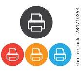 printer icon set | Shutterstock .eps vector #284710394