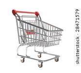 isolated empty shopping cart in ... | Shutterstock . vector #28471579