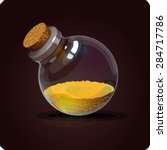 bottle with sand. game icon of... | Shutterstock .eps vector #284717786