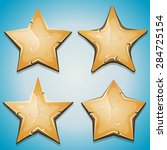 sand stars icons for ui game ...