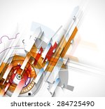 technology abstract background... | Shutterstock .eps vector #284725490