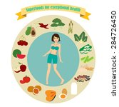 superfoods for exceptional... | Shutterstock .eps vector #284726450
