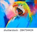 original pastel painting on... | Shutterstock . vector #284734424