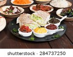 different appetizer and anti... | Shutterstock . vector #284737250