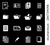 vector white document icon set. | Shutterstock .eps vector #284739098