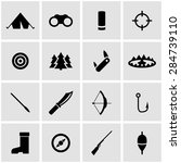 vector black hunting icon set. | Shutterstock .eps vector #284739110
