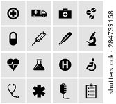 vector black medical icon set. | Shutterstock .eps vector #284739158