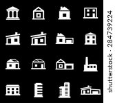 vector white buildings icon set | Shutterstock .eps vector #284739224