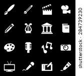 vector white art icon set.    Shutterstock .eps vector #284739230