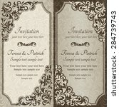 baroque invitation card in old... | Shutterstock .eps vector #284739743