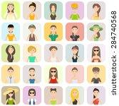 flat set of female icons. women.... | Shutterstock .eps vector #284740568