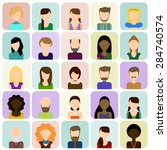 flat people icons set. flat set ... | Shutterstock .eps vector #284740574