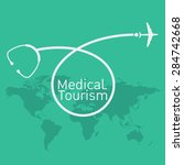 medical tourism vector... | Shutterstock .eps vector #284742668