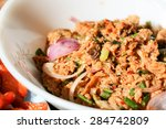 thai spicy minced fish salad | Shutterstock . vector #284742809