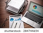 showing business and financial... | Shutterstock . vector #284744654