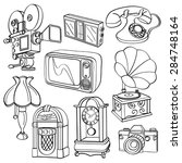 vintage electric appliances | Shutterstock .eps vector #284748164