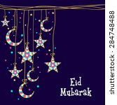 muslim community festival  eid... | Shutterstock .eps vector #284748488