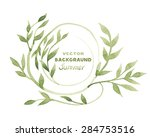 vector background with leaves.... | Shutterstock .eps vector #284753516