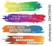 set of color grunge ink... | Shutterstock .eps vector #284759540
