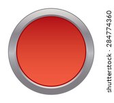 red button with silver outline | Shutterstock .eps vector #284774360
