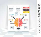 flat style brain and creative... | Shutterstock .eps vector #284775458