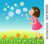 a vector illustration of cute... | Shutterstock .eps vector #284780000