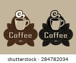 retro vintage coffee seal | Shutterstock .eps vector #284782034