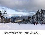 ski winter resort jasna ... | Shutterstock . vector #284785220