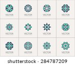geometric logo template set.... | Shutterstock .eps vector #284787209