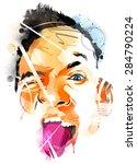 abstract face | Shutterstock .eps vector #284790224