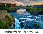 Spokane Falls And View Of...