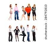 workforce concept team together  | Shutterstock . vector #284792810