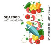 seafood design set. infographic ... | Shutterstock .eps vector #284796134