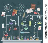 science lab concept with flat... | Shutterstock .eps vector #284798270