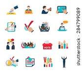 elections with voting debates... | Shutterstock .eps vector #284799089