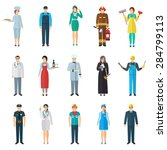 profession and job avatar with... | Shutterstock .eps vector #284799113