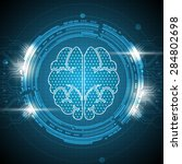 vector brain technology... | Shutterstock .eps vector #284802698