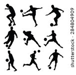 different poses of soccer... | Shutterstock .eps vector #284804909