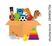 baby toys design over white... | Shutterstock .eps vector #284806706