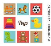 baby toys design over white... | Shutterstock .eps vector #284806760